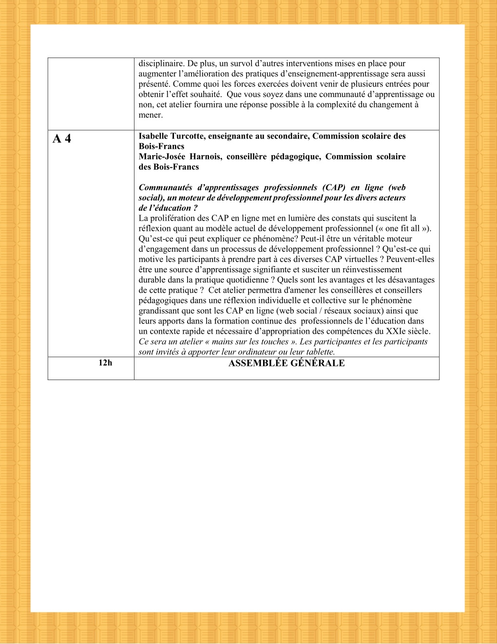 Programme page 5